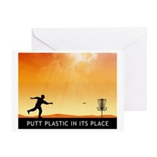 Putt Plastic In Its Place #7 Greeting Card