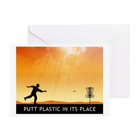 Putt Plastic In Its Place #7 Greeting Cards (Pk of