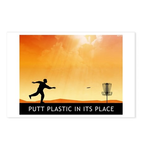 Putt Plastic In Its Place #7 Postcards (Package of