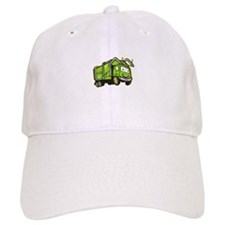 Garbage Rubbish Truck Cartoon Baseball Cap
