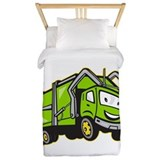 Garbage rubbish truck cartoon Twin