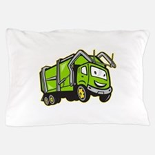 Garbage Rubbish Truck Cartoon Pillow Case