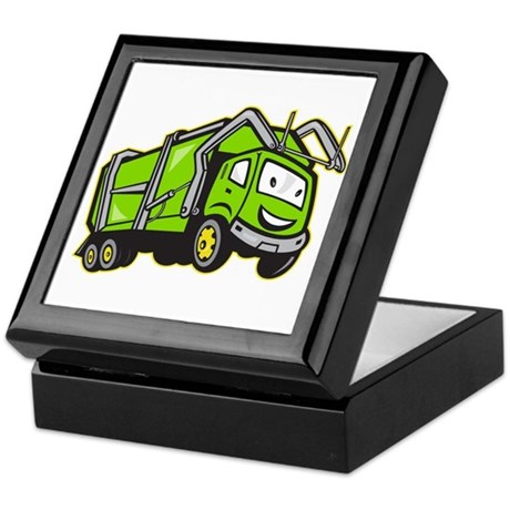 Garbage Rubbish Truck Cartoon Keepsake Box