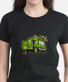 Garbage Rubbish Truck Cartoon Tee