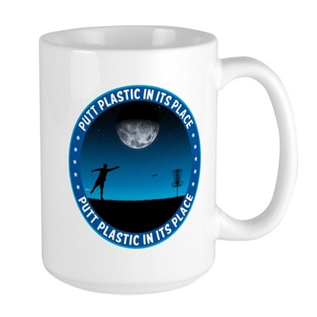 Putt Plastic In Its Place #8 Large Mug
