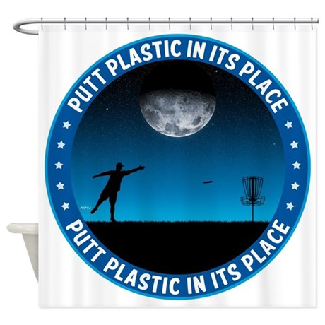 Putt Plastic In Its Place #8 Shower Curtain