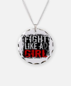 Fight Like a Girl 31.8 J Diabetes Necklace Circle