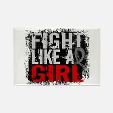 Fight Like a Girl 31.8 J Diabetes Rectangle Magnet