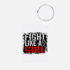 Fight Like a Girl 31.8 J Diabetes Keychains