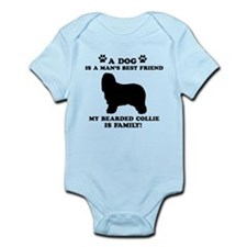 Bearded Collie Dog Breed Designs Infant Bodysuit