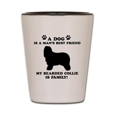 Bearded Collie Dog Breed Designs Shot Glass