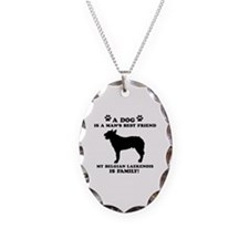 Belgian Laekenois Dog Breed Designs Necklace Oval