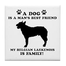 Belgian Laekenois Dog Breed Designs Tile Coaster