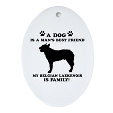 Belgian Laekenois Dog Breed Designs Ornament (Oval
