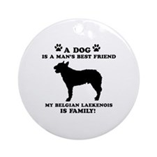 Belgian Laekenois Dog Breed Designs Ornament (Roun
