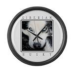 Husky Eyes Large Wall Clock