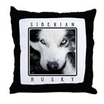 Husky Eyes Throw Pillow