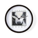 Husky Eyes Wall Clock