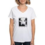 Husky Eyes Women's V-Neck T-Shirt