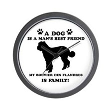 Bouvier Des Flandres Dog Breed Designs Wall Clock