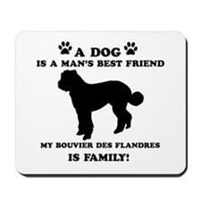 Bouvier Des Flandres Dog Breed Designs Mousepad