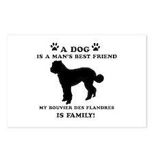 Bouvier Des Flandres Dog Breed Designs Postcards (