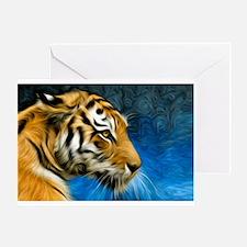 Tiger Art Painting Greeting Card