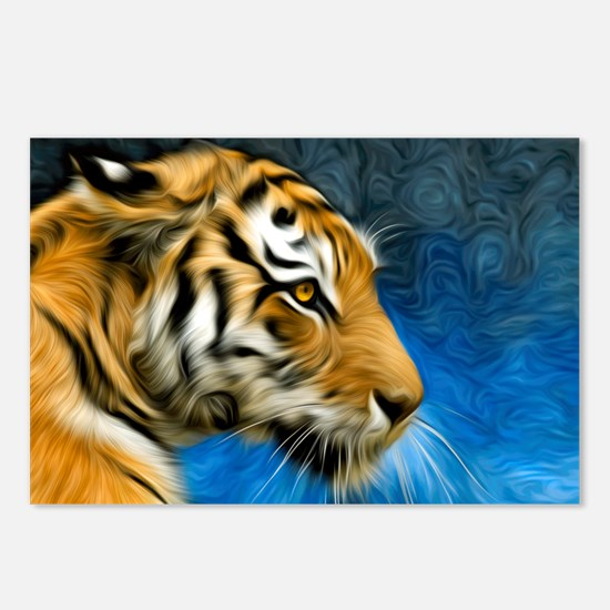 Tiger Art Painting Postcards (Package of 8)