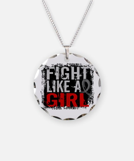 Fight Like a Girl 31.8 Diabetes Necklace Circle Ch