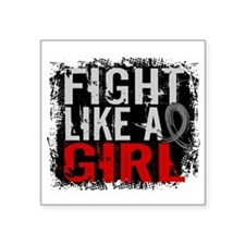Fight Like a Girl 31.8 Diabetes Square Sticker 3""