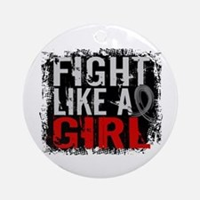 Fight Like a Girl 31.8 Diabetes Ornament (Round)
