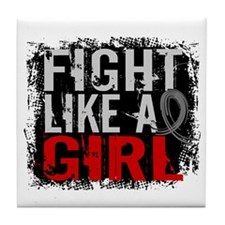 Fight Like a Girl 31.8 Diabetes Tile Coaster