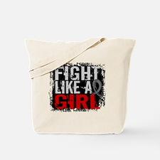 Fight Like a Girl 31.8 Diabetes Tote Bag