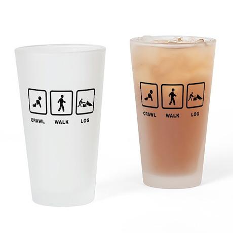 Logging Drinking Glass