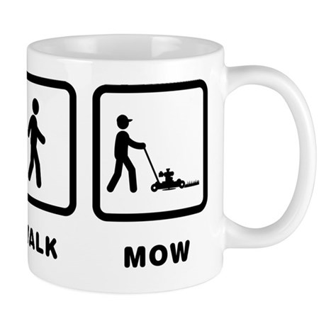 Image result for coffee and mowing