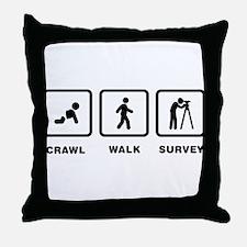 Land Surveying Throw Pillow