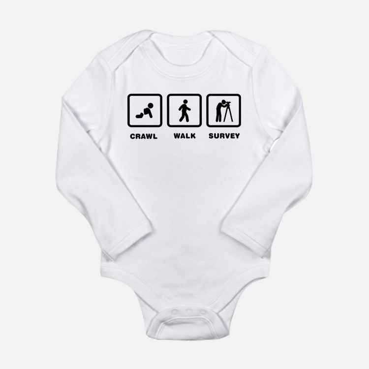 Land Surveying Long Sleeve Infant Bodysuit