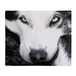 Husky Eyes Throw Blanket