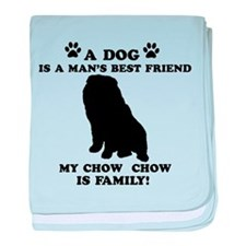 Chow Chow Dog Breed Designs baby blanket