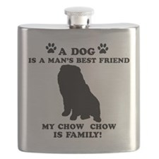 Chow Chow Dog Breed Designs Flask