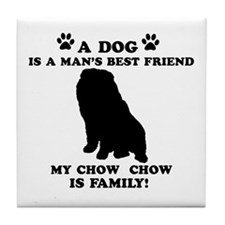 Chow Chow Dog Breed Designs Tile Coaster