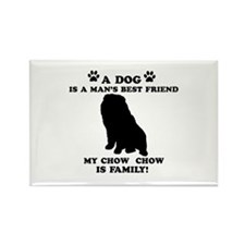 Chow Chow Dog Breed Designs Rectangle Magnet (100