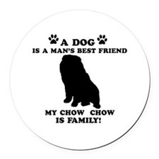 Chow Chow Dog Breed Designs Round Car Magnet