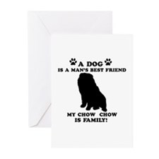 Chow Chow Dog Breed Designs Greeting Cards (Pk of