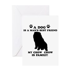 Chow Chow Dog Breed Designs Greeting Card