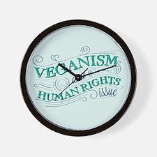 Human Rights Vegan Wall Clock