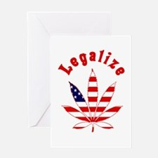 Legalize Marijuana in the US Greeting Card