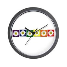 Daisy Pride Wall Clock