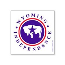 Wyoming Independence Sticker