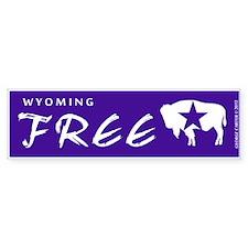 Wyoming Free Bumper Bumper Sticker